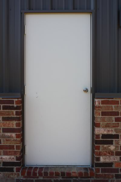"Doors - 3/0 x 7/0 Metal Walk-Thru Door w/ 4"" Jamb"